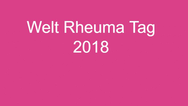Welt Rheuma Tag 2018