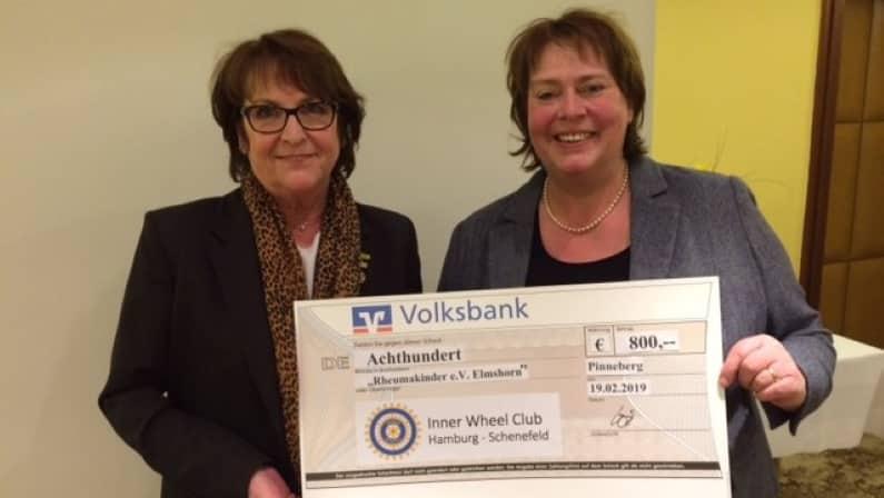 Ingrid Wiedemann Inner Wheel Club Hamburg Schenefeld Kerstin Bennecke Übergabe Spende