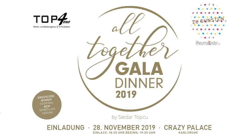 all togehter Gala Dinner 2019