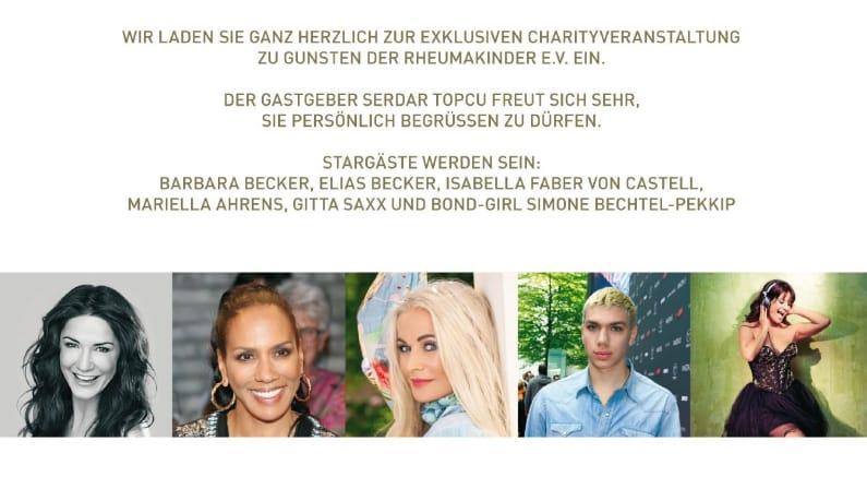 All together Charityveranstaltung Gastgeber Serda Topcu Gäste Babara Becker, Elias Becker, Isabella Faber von Castell, Mariella Ahrens, Gitta Saxx, Simone Bechtel-Pekkip