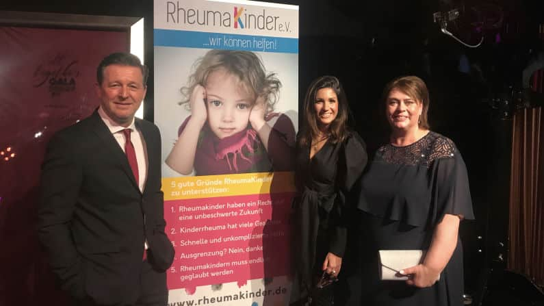 Christian Titz Anja Polzer Kerstin Bennecke All Together Gala-Dinner 2019 Karlsruhe zu Gunsten RheumaKinder e.V.