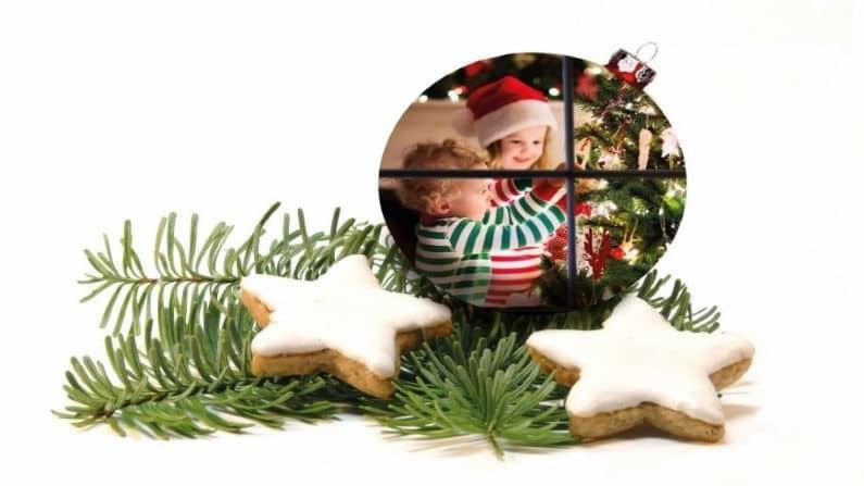 Weihnachten Kekse Kugel mit Kinder