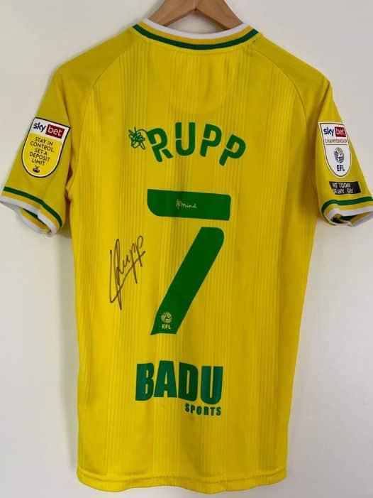 Norwich City FC - Rupp Rückseite m. Originalunterschr.