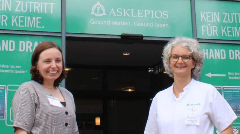 DR. Cordula Warlitz mit Frau Domke Geschäftsführung Asklepius Klinik Parchim